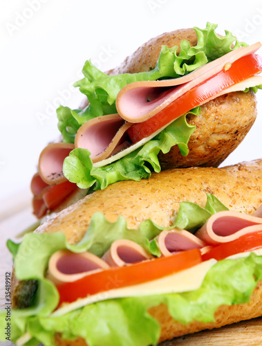 Foto op Canvas Snack Fresh and tasty sandwich
