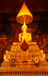 Buddha Statues in church of Wat Pho, Bangkok, Thailand