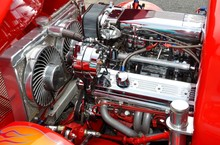 Hot Rod Car Engine
