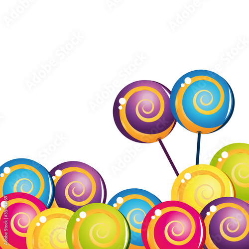 Keuken foto achterwand Snoepjes Colorful delicious lollipop collection