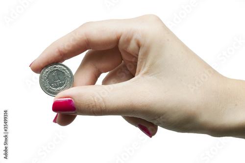 Fotografía  One zloty coin