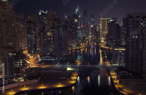 Obrazy na płótnie Canvas Night city. Panoramic view.