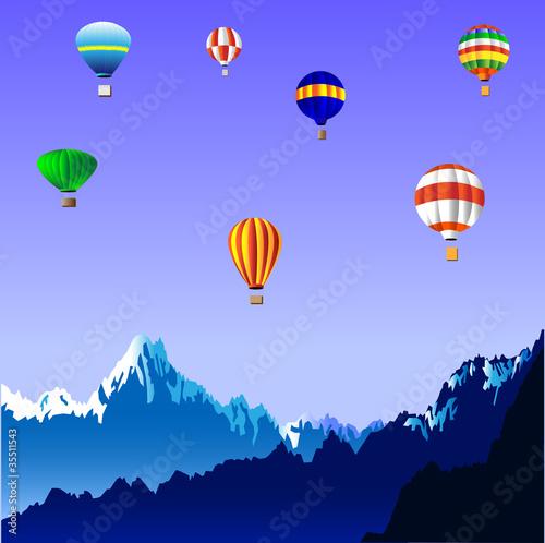 Poster Balloon Hot air balloons