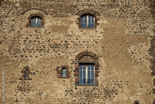 Windows of the castle, Adrano, Sicily Canvas-taulu