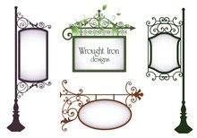 Wrought Iron Vintage Signs