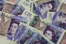 Pile  Twenty Pound Notes