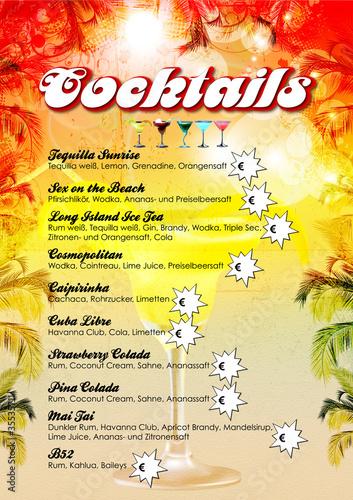 Cocktailkarte Vorlage Stock Vector Adobe Stock
