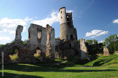 Photo  Remains of old medieval castle, Czech republic