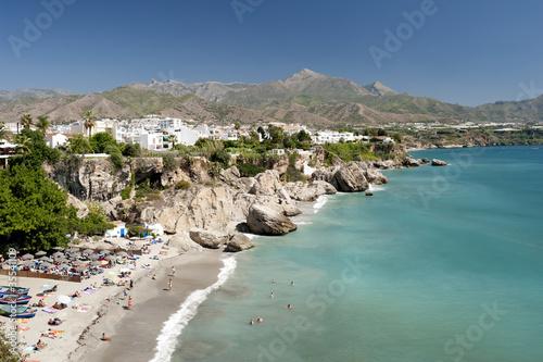 Beach at Nerja, Malaga Province, Spain