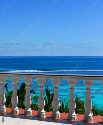 Obraz na płótnie Widok z balkonu hotelowego