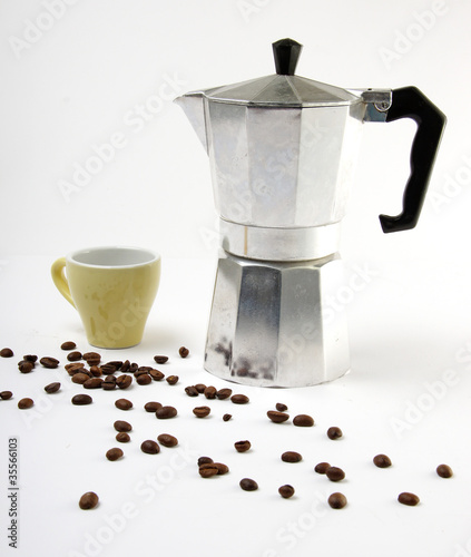 Canvas Prints Coffee beans einfache espressokanne #4