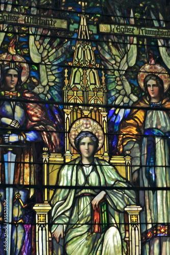 In de dag Stained vetrata con mosaico a tema sacro