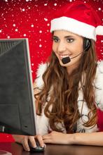 Santa's Assistant Taking Orders