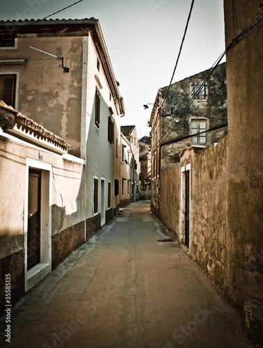 Narrow mediterranean street in Dalmatia