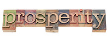 Prosperity Word In Letterpress...