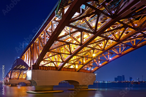Aluminium Prints Sydney Beautiful bridge in South Korea