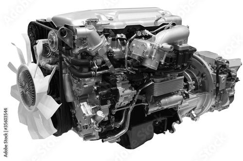 Fotografía  diesel engine