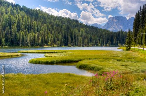 Foto auf Gartenposter Reflexion Montagna: lago alpino