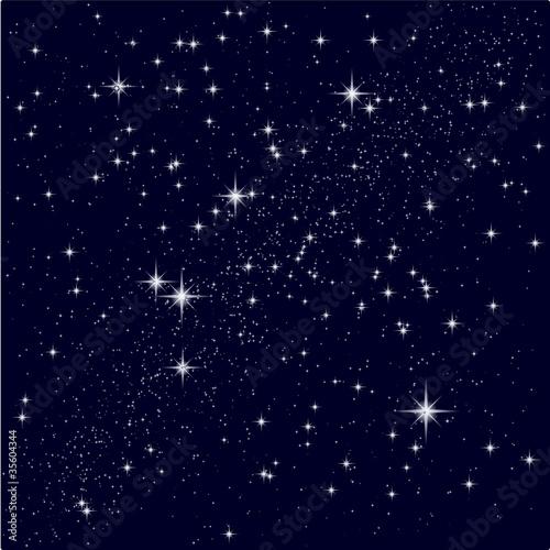 Obraz Vector illustration of a starry sky - fototapety do salonu