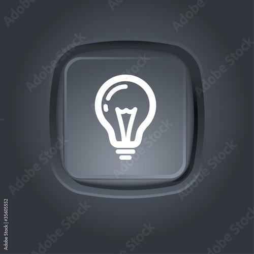 light bulb pictogram Canvas Print