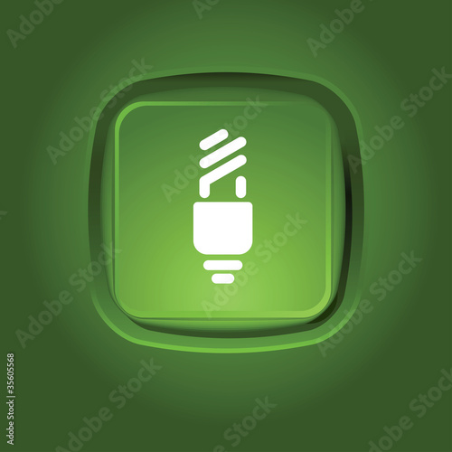 Photo  eco light bulb icon