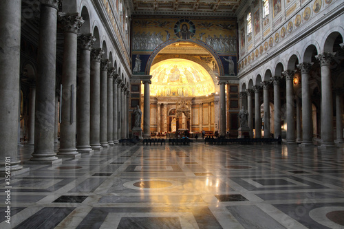 Fotografía  Rome, Italy - basilica of Saint Paul Outside the Walls