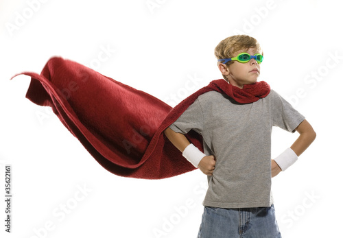 Photo  Child Dressing up as a Super Hero