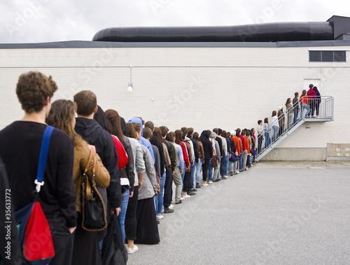 Fotografie, Obraz  Waiting in Line
