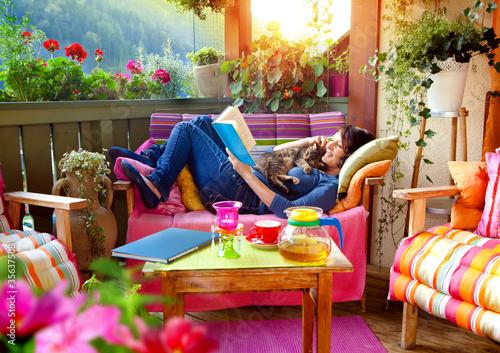 Doppelrollo mit Motiv - Balkon 6 (von Patrizia Tilly)