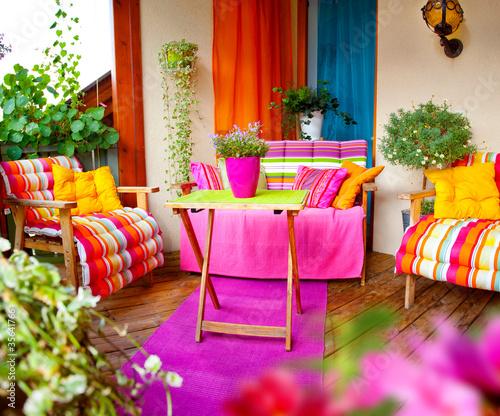 Fotobehang Tuin Balkon 3