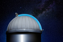 Astronomical Observatory Dome Night Sky