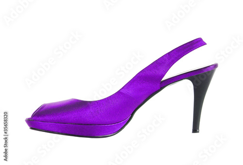 2369160b008 Beautiful sexy violet female shoes isolated on white background ...