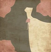 Card With Dress, Wedding Invitation