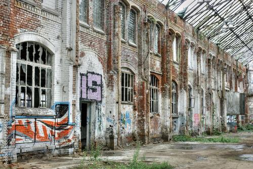 Fotografering  Decayed Brick Facade