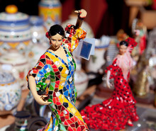 Gipsy Flamenco Dancer Woman St...