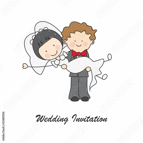 Fotografie, Obraz  Tarjeta invitación de boda