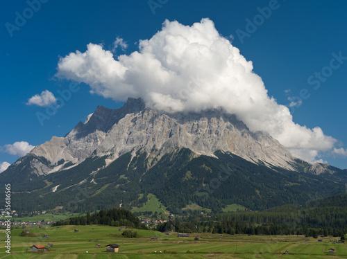 Poster Onweer Zugspitze in Wolken