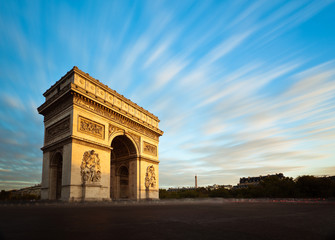 Fototapeta na wymiar Arc de Triomphe Champs Elysées Paris France