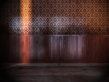 Vintage Room With Old Wood