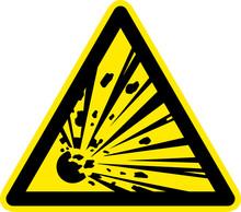 Warnschild Warnzeichen Explosi...