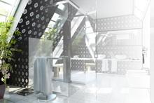Bathroom In Silver-black (drawing)