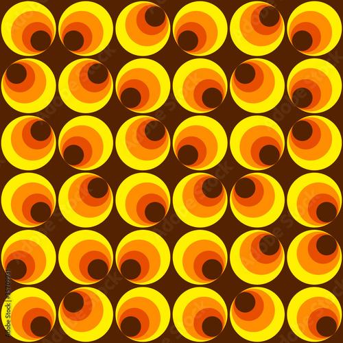 Photographie  Muster mit Kreisen gelb braun