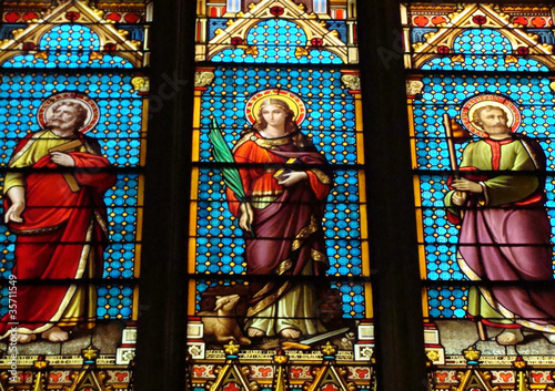 Tuinposter Stained Cathédrale Saint Patrick New York