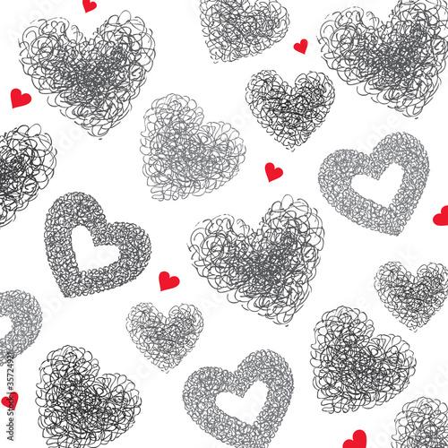 tlo-serc-recznie-rysowane-ilustracji-wektor