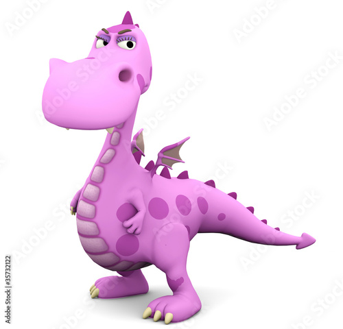 Keuken foto achterwand Dinosaurs baby dragon pink in why are you so serious