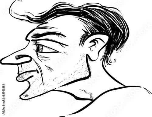 Valokuva man profile caricature