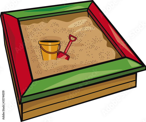 Fotografie, Obraz  sandbox with toys