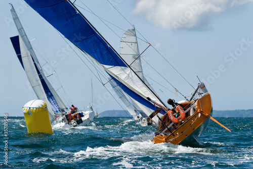 Fotografía  yacht at race regatta