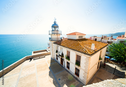 Beautiful landscape view (Peniscola lighthouse, Spain)
