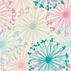 Panel Szklany Do pokoju dziewczyny seamless pattern